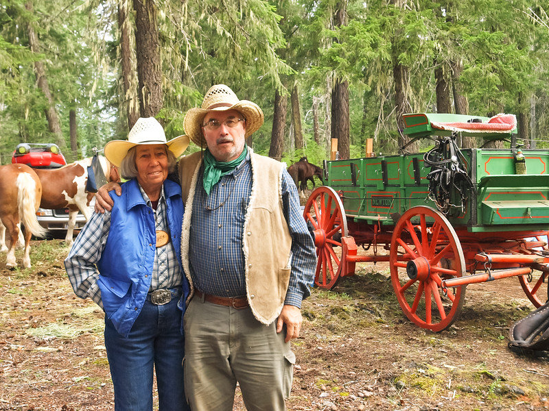 Left: Joyce Sharp (Wagon Driver) Right: Dave (Outrider)