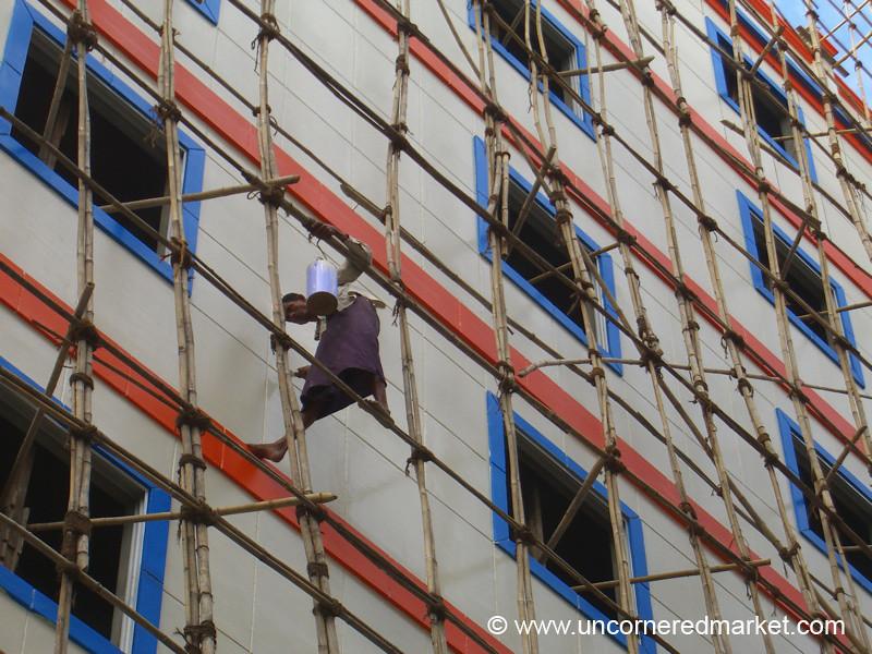 Bamboo Scaffolding - Rangoon, Burma (Yangon, Myanmar)