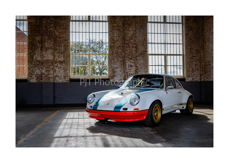Magnus Walker Porsche 911 STR02 Hot Rod on display
