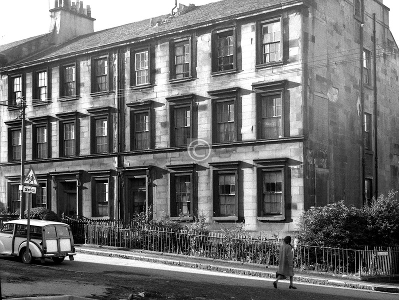 Buccleuch St., north side west of Dalhousie St.  August 1974
