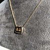 'For You I Live' 18kt Rose Gold Cast Rebus Pendant, by Seal & Scribe 12