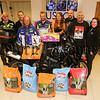 The Ulster Society for the Prevention of Cruelty to Animals (USPCA) Hospital, Newry, gratefully accepted a donation from Rathfriland Motorcycle Club, for the tenth successive year. <br /> The club's donation each year has grown bigger with the help of Jollyes in Banbridge with store manager Morris, Lurgan with store manager Marty, and Newry with store manager Paul. The club managed to bring approximately 500kg of food for the hospital.<br /> <br /> Pictured are club members, Kirk Hanlon, Andrew Hanlon, Alan Ward of the USPCA, JD Hanlon, Neil Hanlon, Emma Edwards, Stevie Boyce, Howard Anderson, and Colleen Dowdall of the USPCA.<br /> <br /> Picture: Philip Magowan