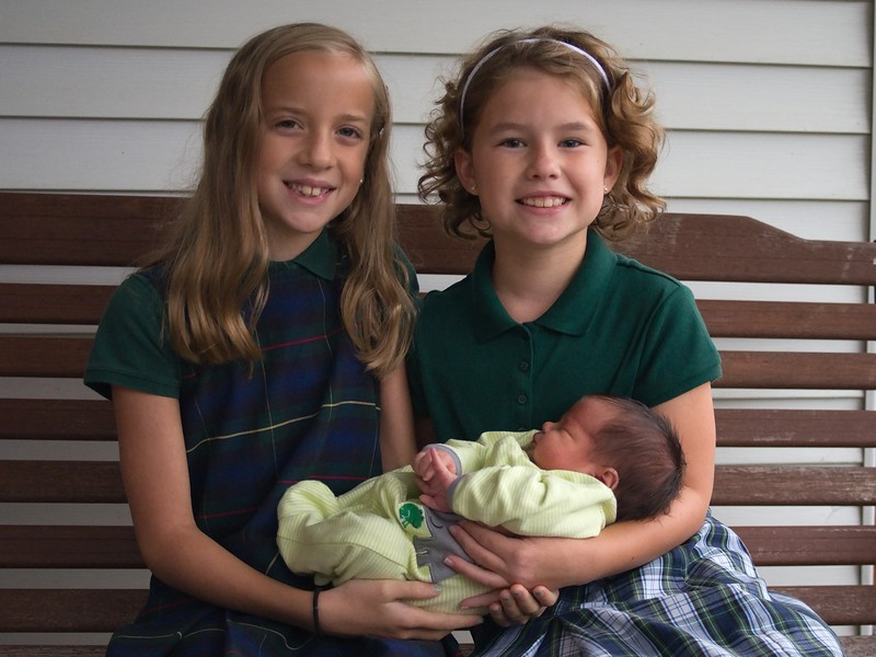 Abby, Lilly and Max on first day of school 2015
