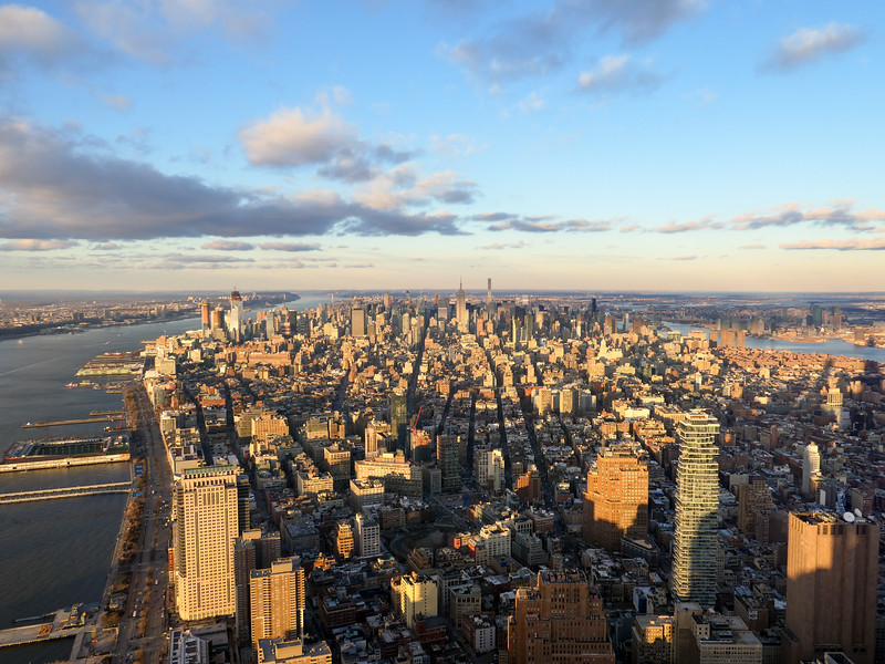 New York City from One World Observatory