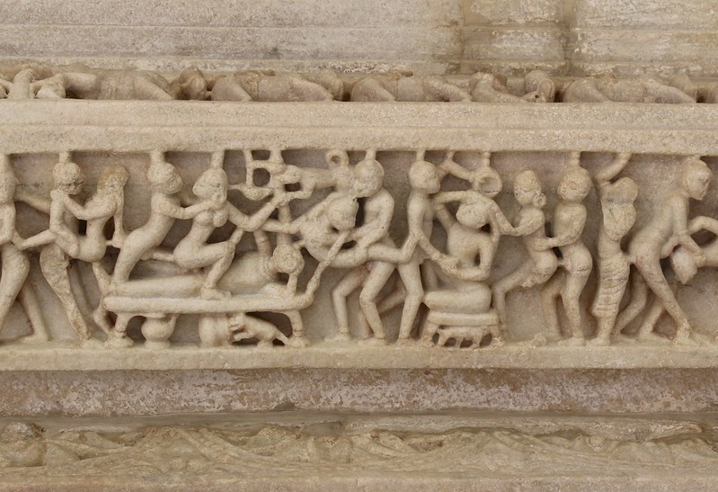 Many Indian temples contain scenes of erotica. - Ranakpur Jain Temple