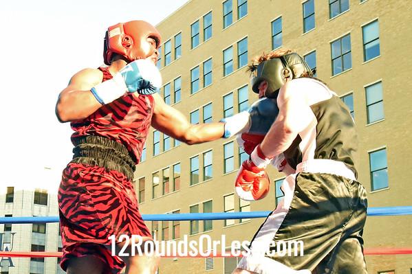 Bout 1 Atton Howard, Glenville -vs- Donald Fozzard, Warren, 155 lbs