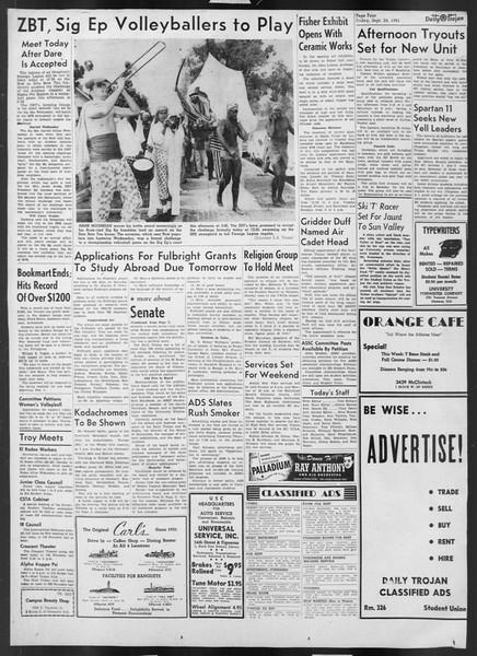 Daily Trojan, Vol. 43, No. 10, September 28, 1951