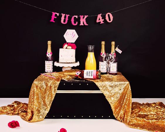 40th Smash Cake