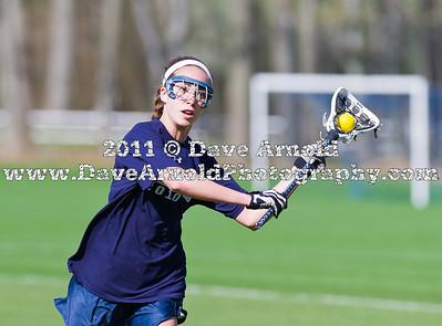 4/29/2011 - Girls Varsity Lacrosse - Brooks vs Nobles