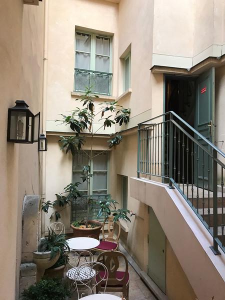 Her courtyard
