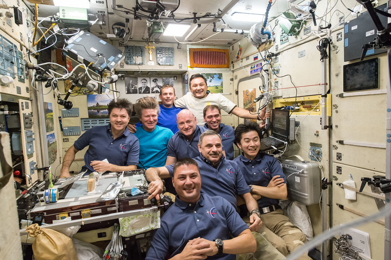 Bid farewell to 3 crew mates aboard @space_station. #Soyuz that brought me here will bring them home. #YearInSpace
