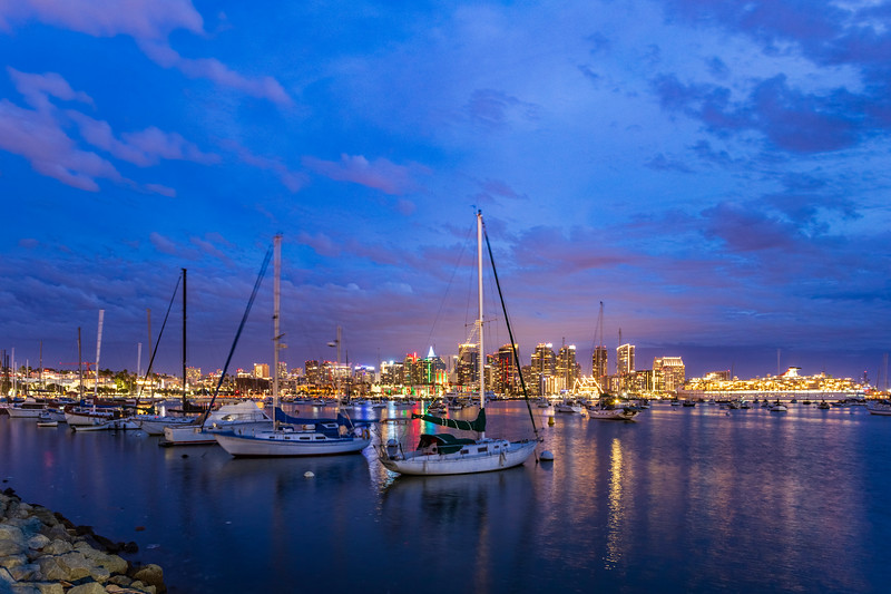 December Evening On the Harbor in San Diego