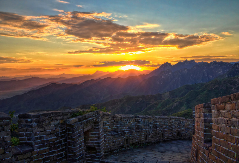 "Great Wall Sunset. 22"" x 15"""