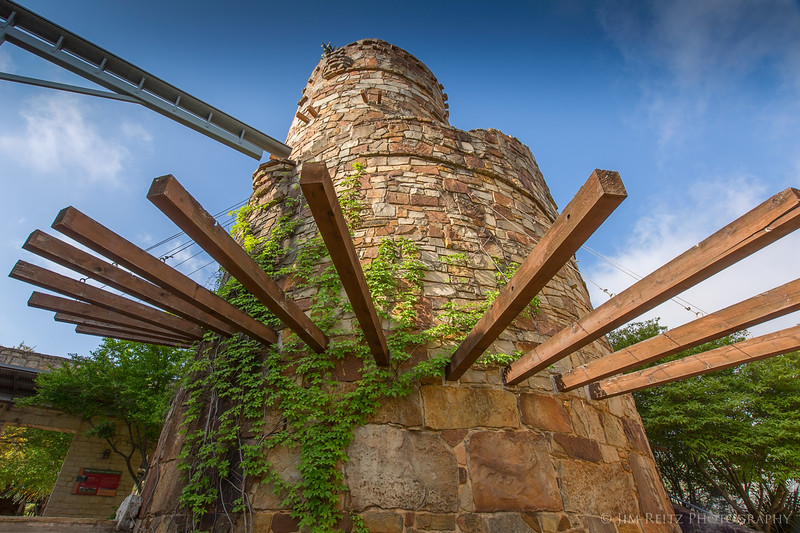 3-story viewing tower at the Ladybird Johnson Wildflower Center in Austin.