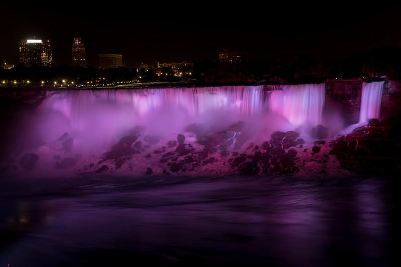 The American Falls At Night