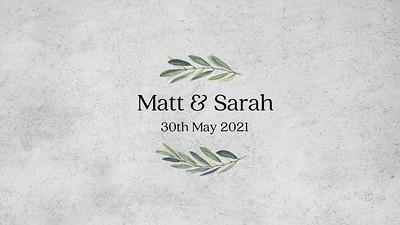 30.05 Sarah and Matt