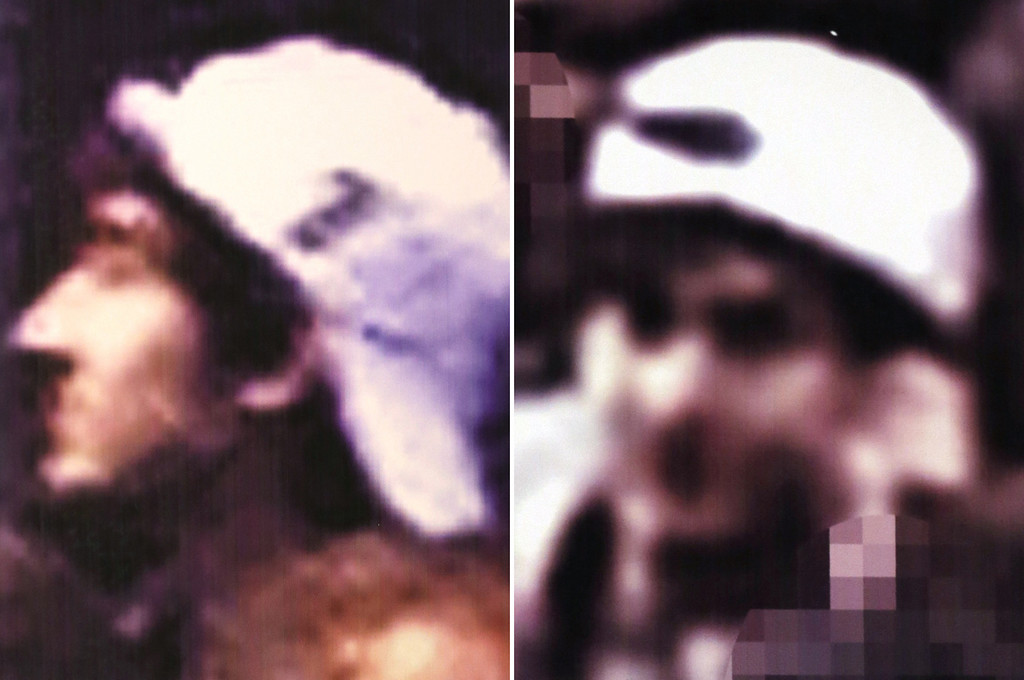 . This image from video released Thursday, April 18, 2013 by the FBI shows one of two suspects sought in connection with the Boston Marathon bombings. The FBI released photos and video of the two suspects and asked for the public\'s help in identifying them, zeroing in on the two men on surveillance-camera footage less than three days after the deadly attack. (AP Photo/FBI)
