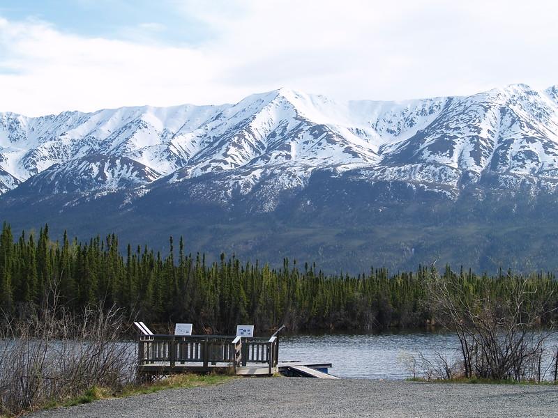 Part of the Kluane Mountain range.