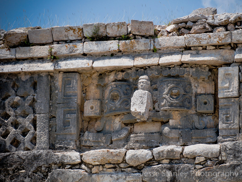 Another sculpture of Chaac at Las Monjas, Chichen Itza