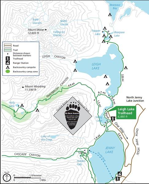 Grand Teton National Park (Leigh Lake Trailhead)