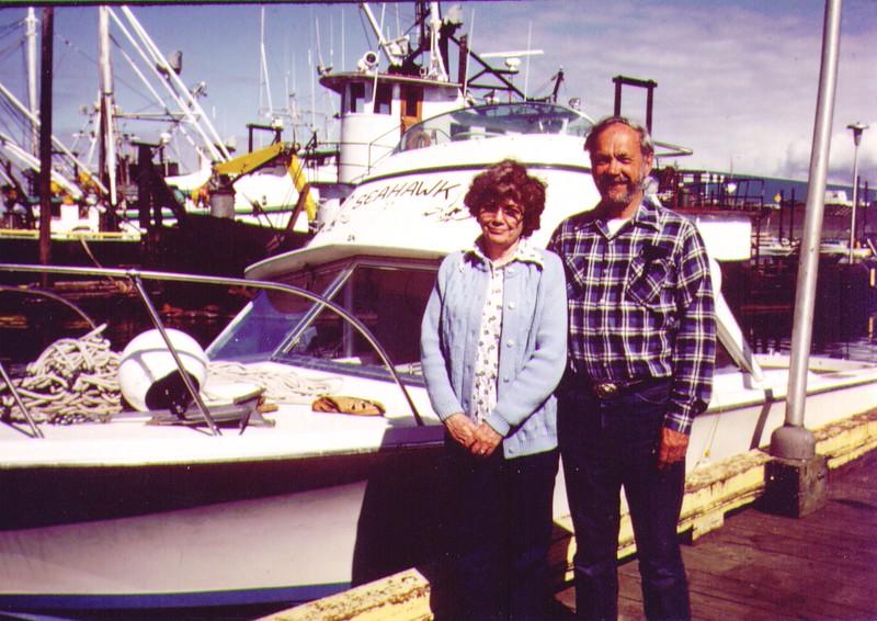 Bonnie & Wayne, Homer Boat Dock, July 1980 - Copy.jpg