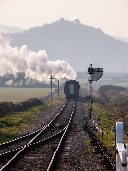 Steam train on the West Somerset Railway
