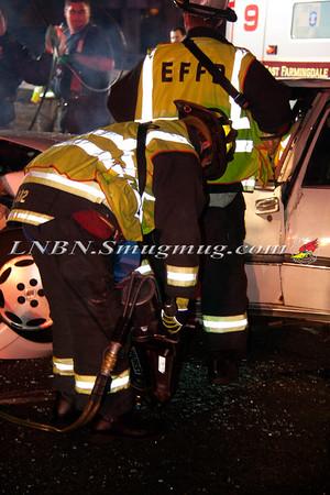 East Farmingdale Fire Co. Fatal MVA w/ Entrapment Rt-109 east of Rt-110 Overpass 11-23-14