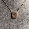'Joys I Double, Sorrows I Divide' 18kt Rose Gold Cast Pendant, by Seal & Scribe 21
