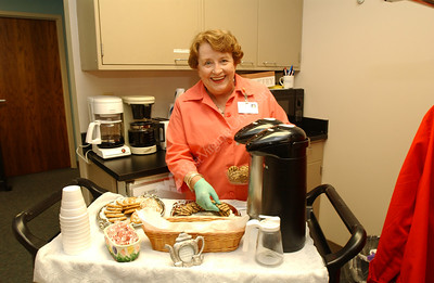 21664 Health Science Comm. Lucille Drew Volunteer at Ruby - Coffee/Tea Cart