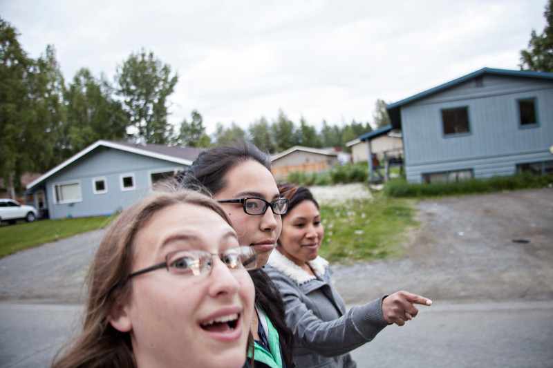 June 20, 2012. Day 166.   Seriously. This is my photo of the day. Sandra, I don't know why you're so special that you get to be in focus. Joanna is thinking of hammocks.  Eagle River, AK