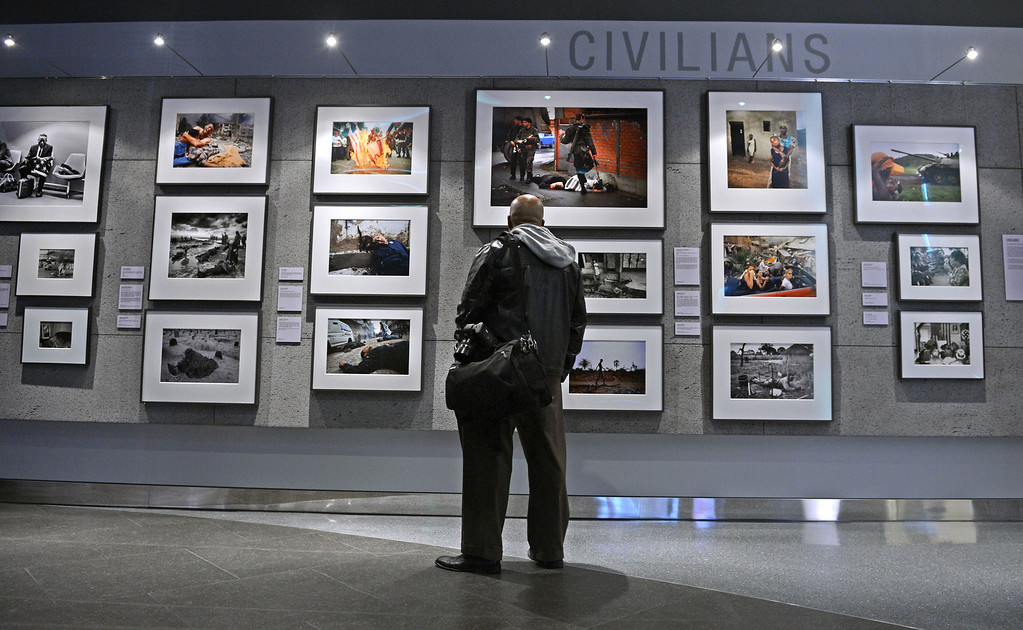 . WAR/Photography - Images of Armed Conflict and its Aftermath. Photography exhibit at the Annenberg Space for Photography. Photo by Brad Graverson 3-20-13
