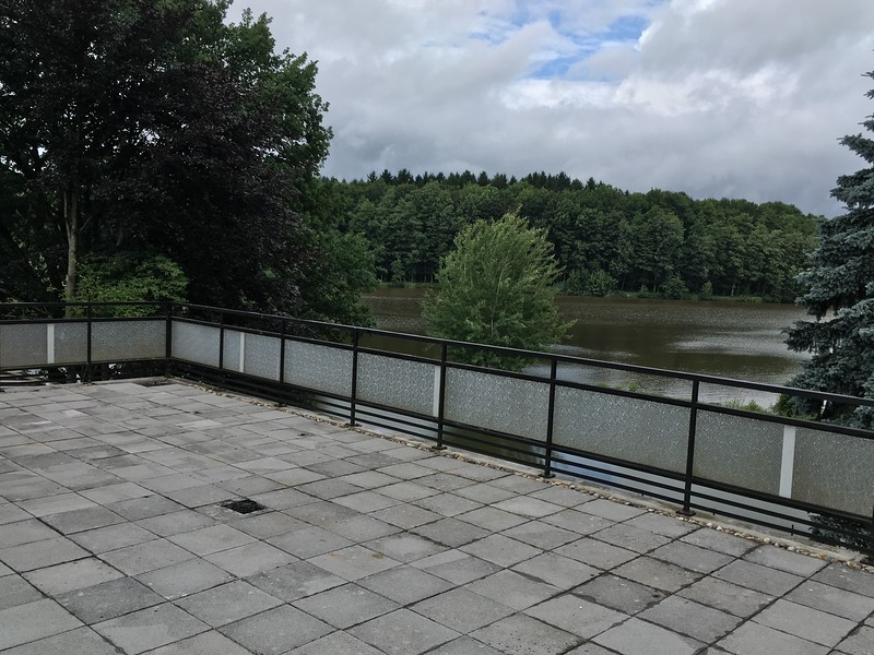 Upstairs balcony/terrace with great view of the lake.