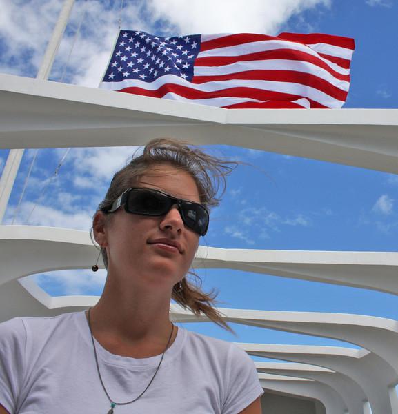 Sarah at Pearl Harbor