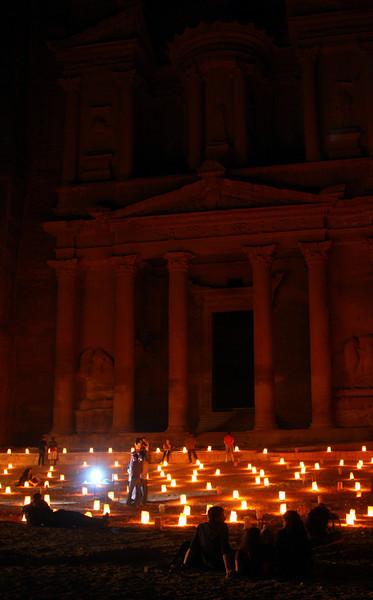 Petra - Petra by Night - The Treasury.