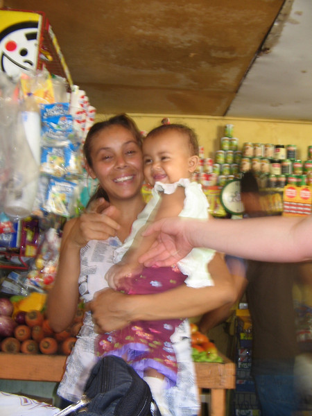 Shopkeeper's wife and daughter