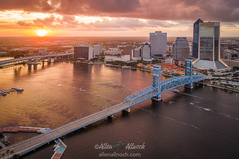 Downtown Jacksonville Aerial View