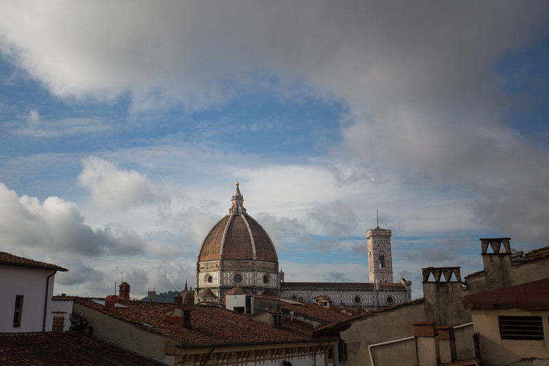 View of Duomo from the hotel room with better weather.