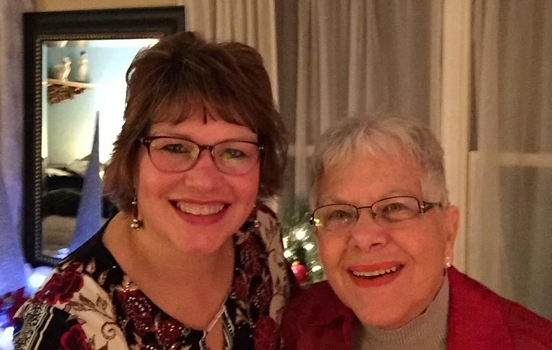 Fran and Mom on Christmas Eve
