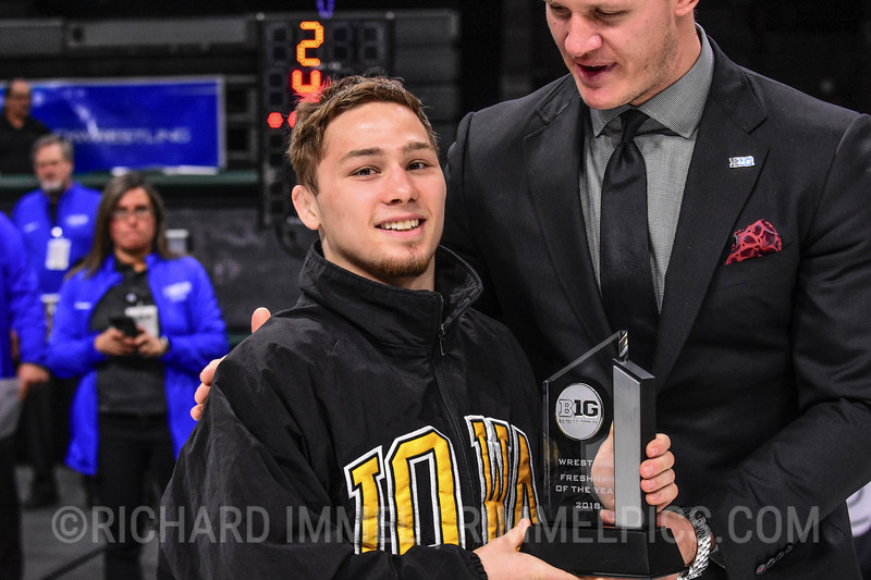 Spencer Lee, Iowa, 2018 Big Ten Freshman of the Year