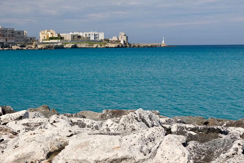 sea view over rocky coastline