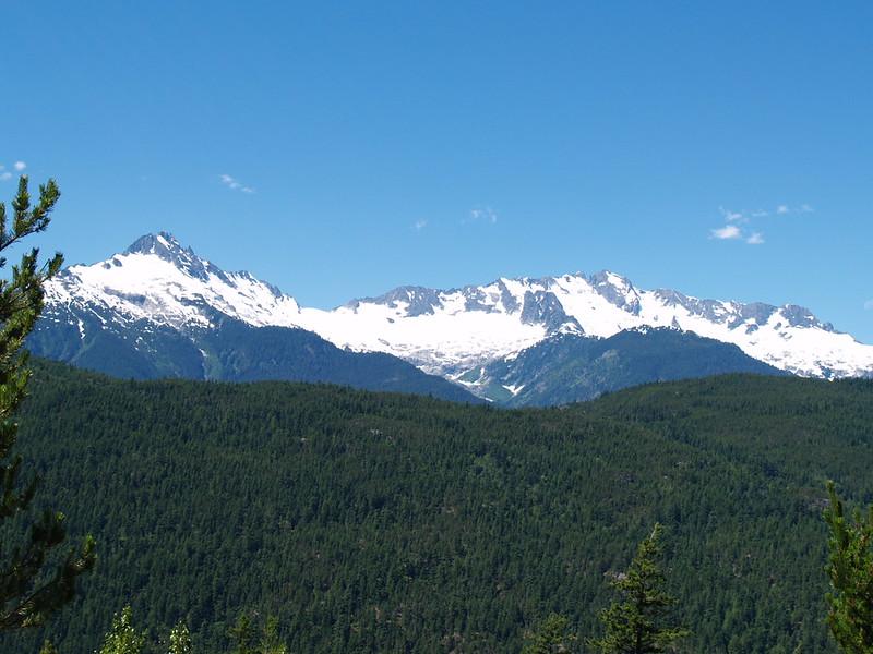 Tantalus Mountain Range near Britannia Beach on the way to Whistler (2005).