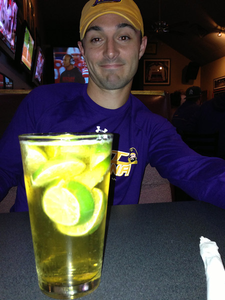 10/27 ECU vs Navy Chris likes Bud Light Lime