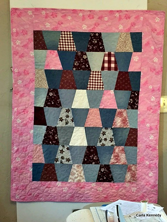 2015 01-01 Baby Sperry quilt. It's a Girl!