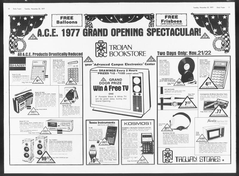 Daily Trojan, Vol. 72, No. 45, November 22, 1977