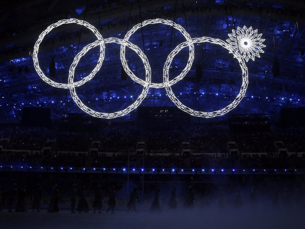 . <p><b>16. OLYMPIC RINGS </b> <p>Like rest of the Sochi Games, about 20 percent defective. <p>   (AP Photo/Matt Dunham)