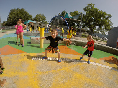 Splash Pad with the cousins - July 2014