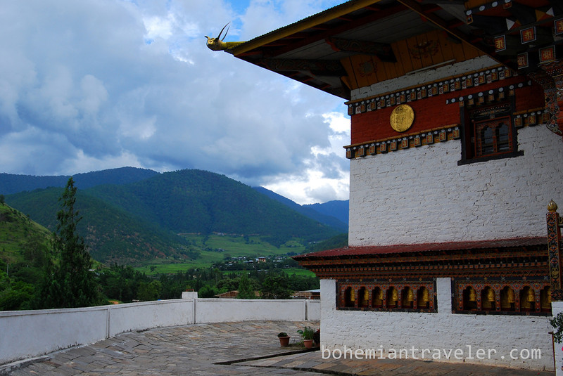 mountains surrounding Punakha Dzong Fortress Bhutan.jpg