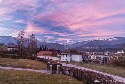 Sunset in Kamnik - Feb 21, 2016