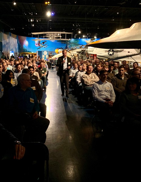Jon Ahola kicking off the NPD awards at the Kalamazoo Air Zoo..jpg
