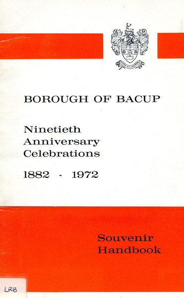 Bacup. Ninetieth Borough Anniversary Celebrations, 1882-1972